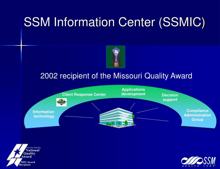 2002 recipient of the Missouri Quality Award