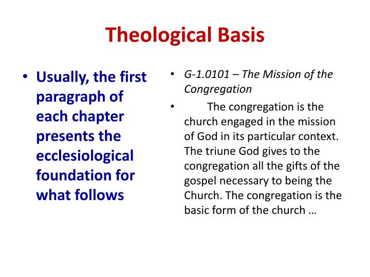 Theological Basis