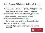data centre efficiency is like onions