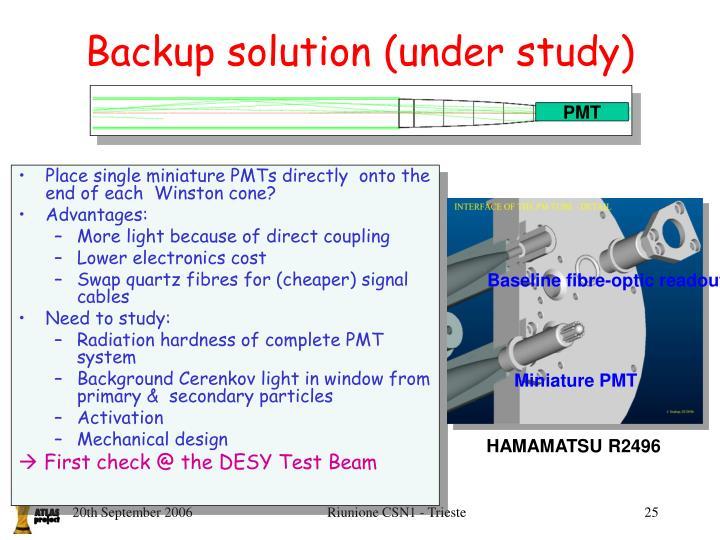 Baseline fibre-optic readout
