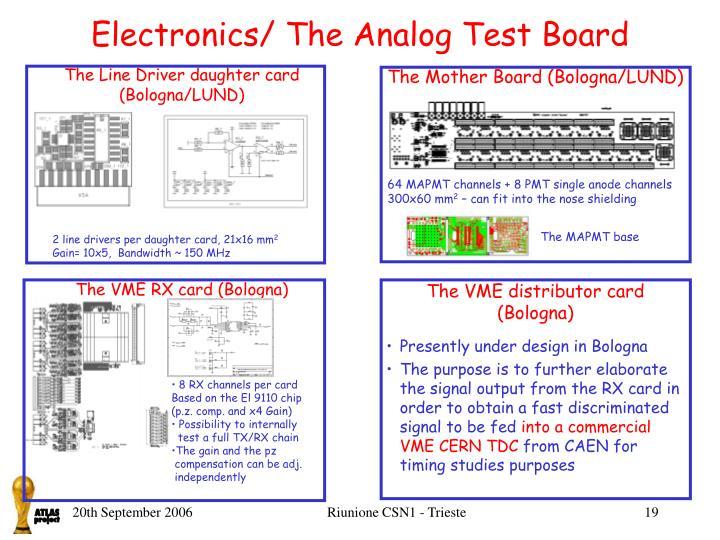 Electronics/ The Analog Test Board