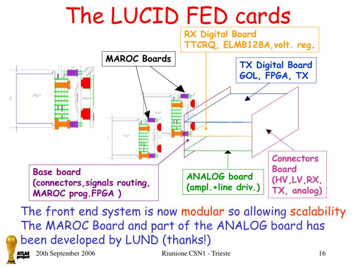 The LUCID FED cards