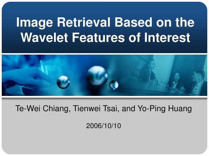 image retrieval based on the wavelet features of interest n.