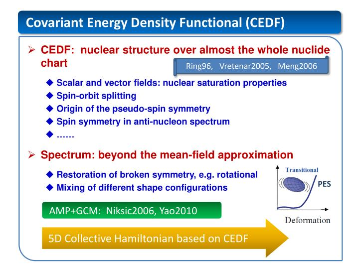 Covariant Energy Density Functional (CEDF)