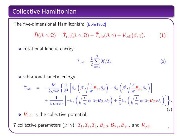 Collective Hamiltonian