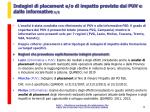 indagini di placement e o di impatto previste dai puv e dalle informative 1 2