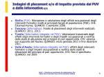 indagini di placement e o di impatto previste dai puv e dalle informative 2 2