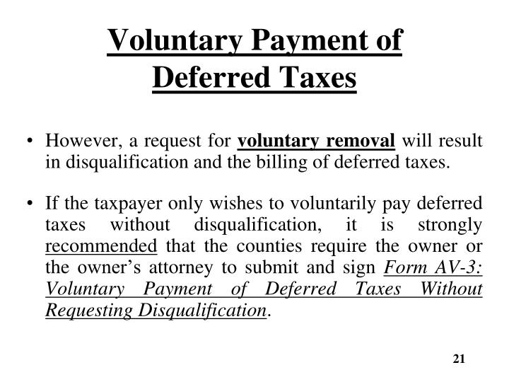 Voluntary Payment of