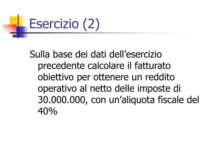 Esercizio (2)