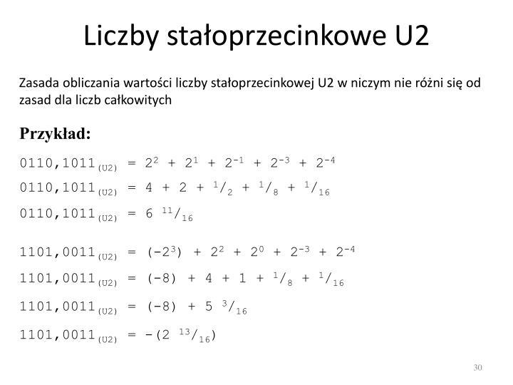 Liczby stałoprzecinkowe U2