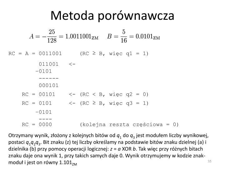 Metoda porównawcza