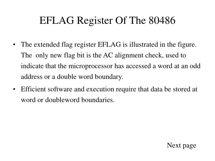 EFLAG Register Of The 80486