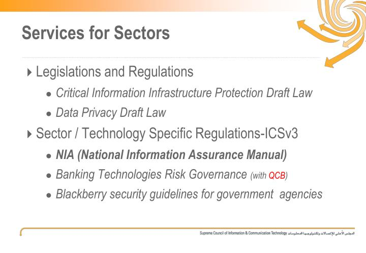Services for Sectors