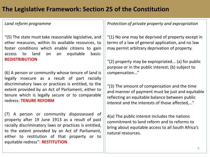 The Legislative Framework: Section 25 of the
