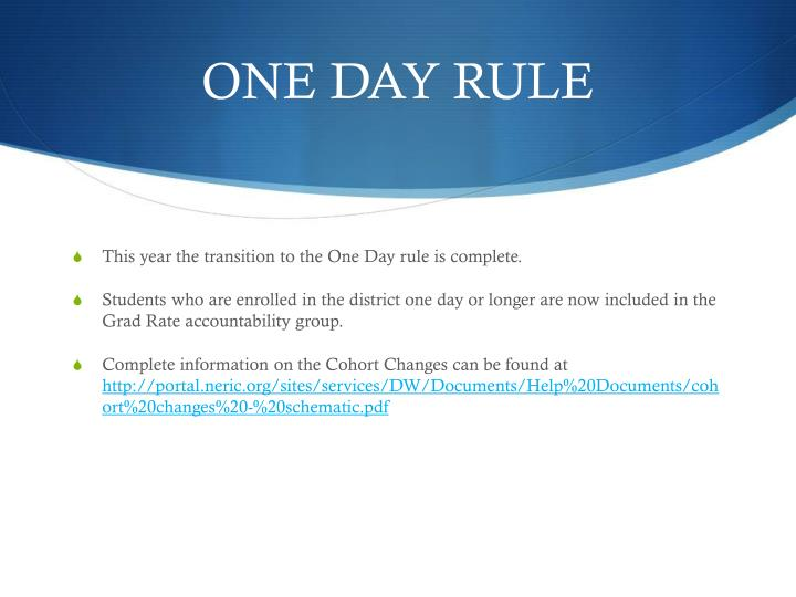 ONE DAY RULE