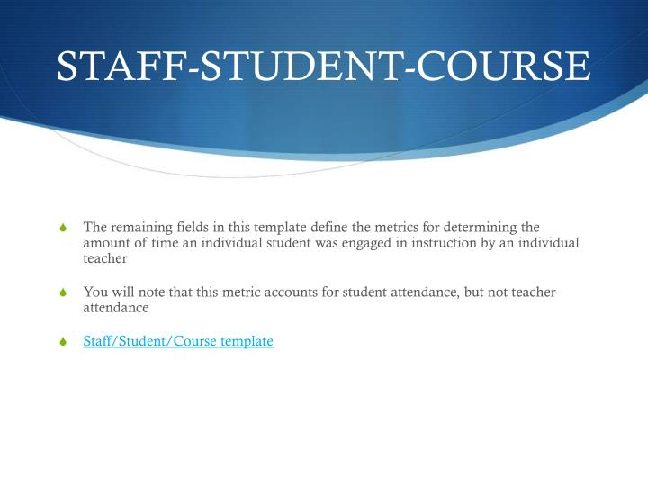 STAFF-STUDENT-COURSE