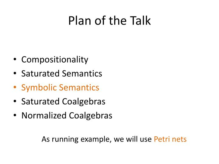 Plan of the Talk