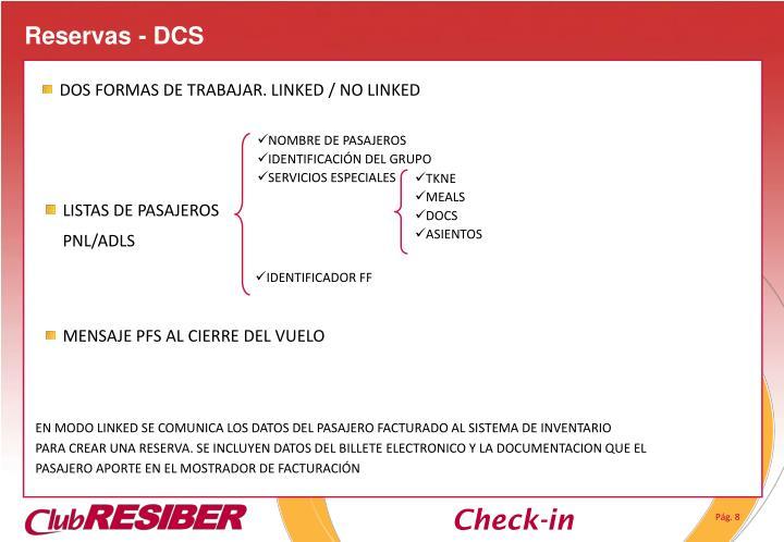 Reservas - DCS