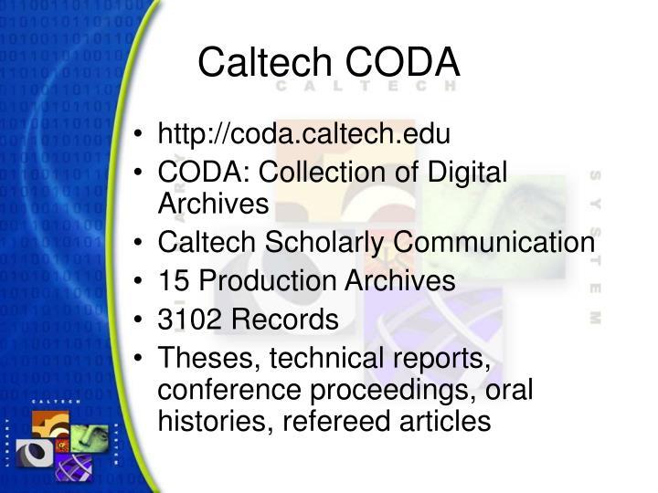 Caltech coda