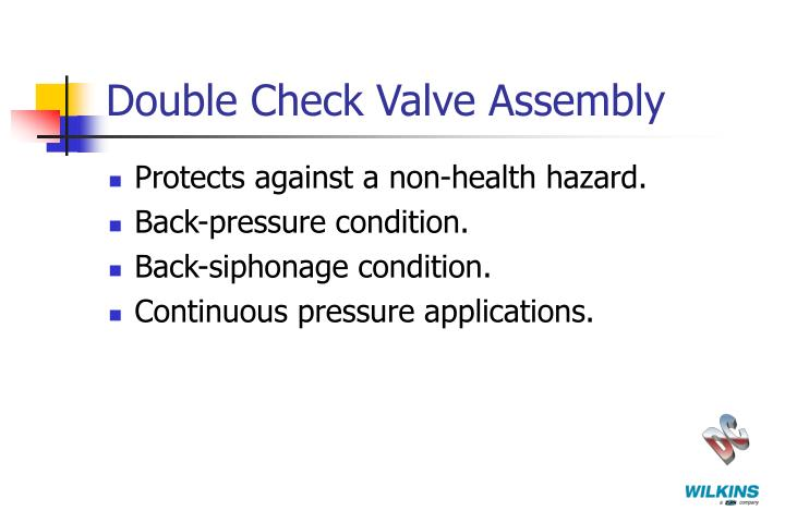 Double Check Valve Assembly