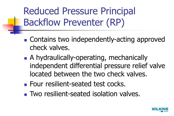 Reduced Pressure Principal Backflow Preventer (RP)