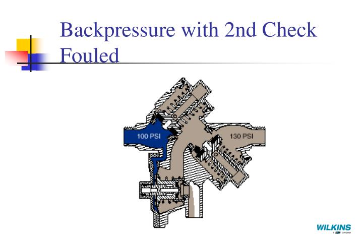 Backpressure with 2nd Check Fouled