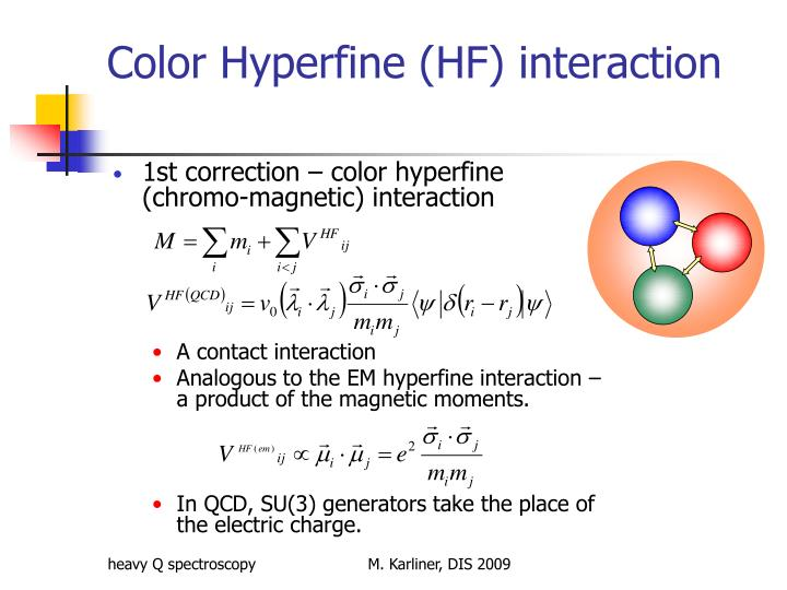Color hyperfine hf interaction