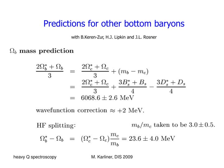 Predictions for other bottom baryons
