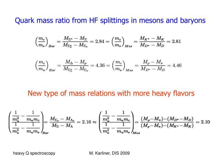 Quark mass ratio from HF splittings in mesons and baryons