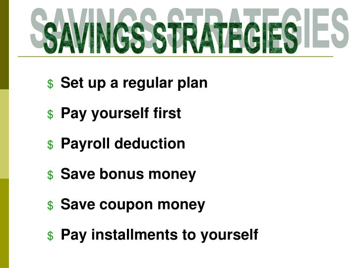 Set up a regular plan
