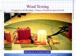 wind testing common on tall buildings purpose establish expected loads