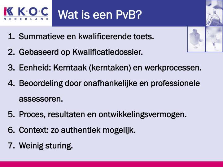 Wat is een PvB?