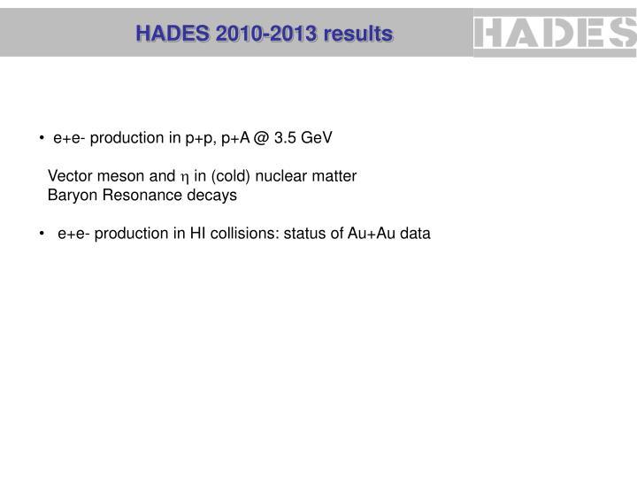 Hades 2010 2013 results