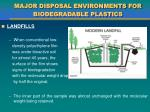 major disposal environments for biodegradable plastics5