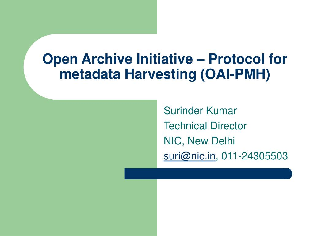 PPT - Open Archive Initiative ...