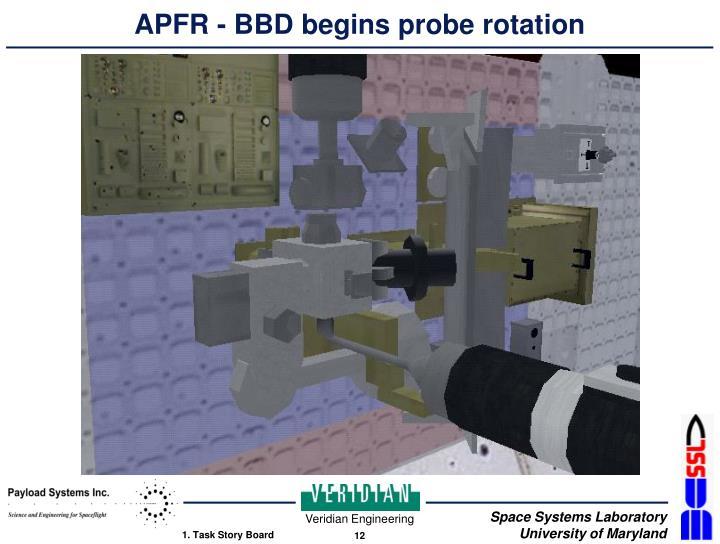 APFR - BBD begins probe rotation