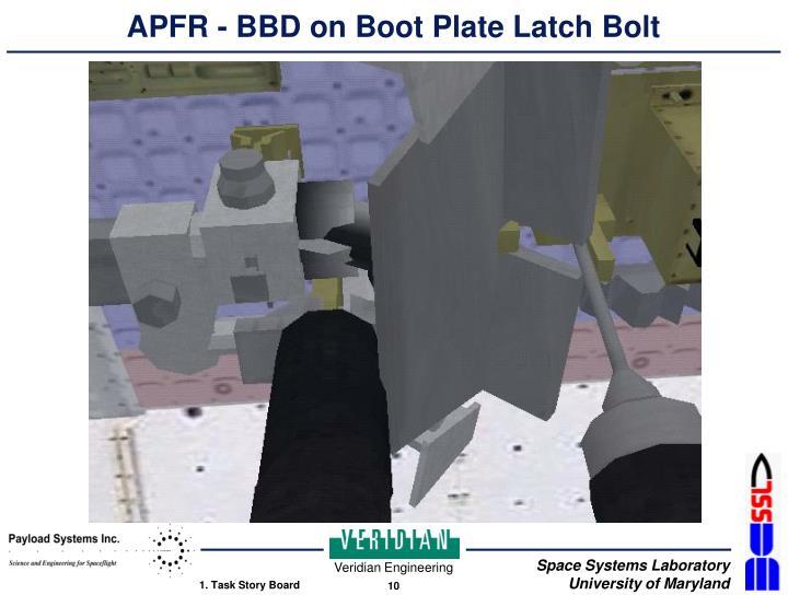 APFR - BBD on Boot Plate Latch Bolt
