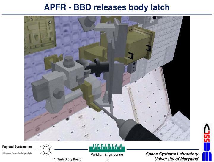 APFR - BBD releases body latch