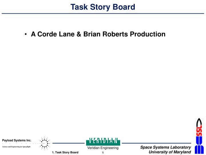 Task story board