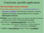 conclusion possible applications