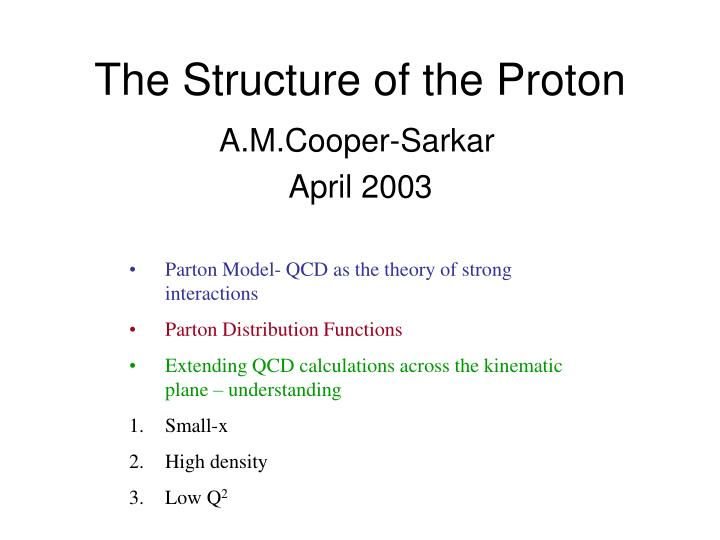 the structure of the proton n.