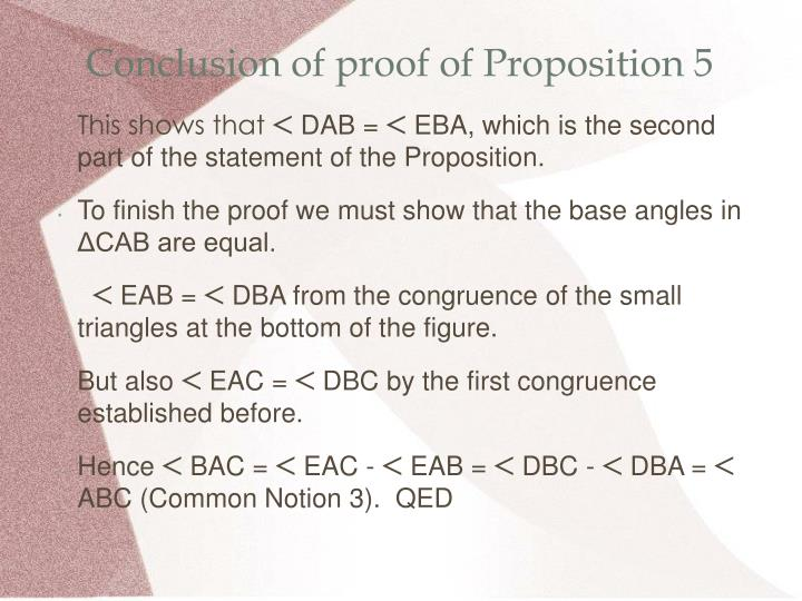 Conclusion of proof of Proposition 5
