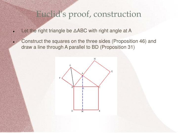 Euclid's proof, construction