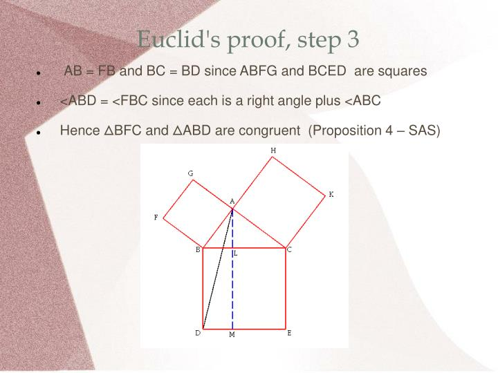 Euclid's proof, step 3