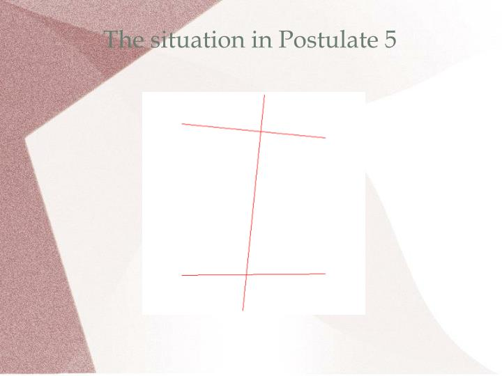 The situation in Postulate 5
