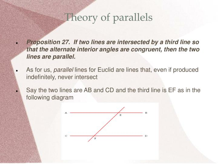 Theory of parallels