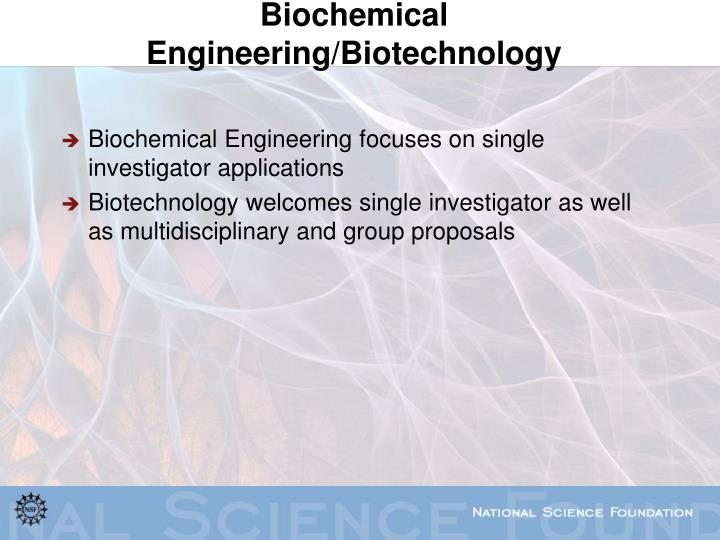 Biochemical Engineering/Biotechnology