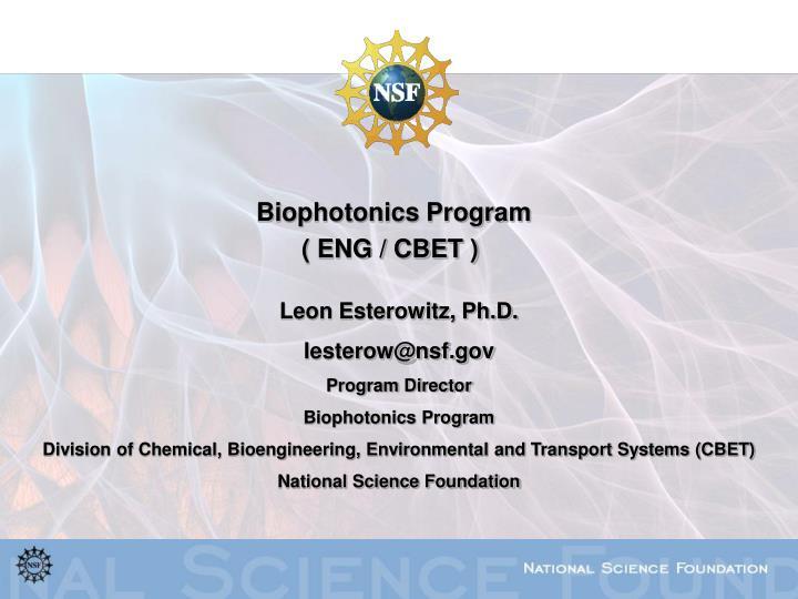 Biophotonics Program