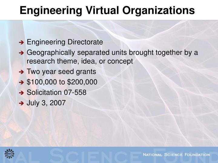 Engineering Virtual Organizations