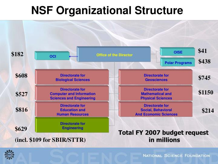 Nsf organizational structure